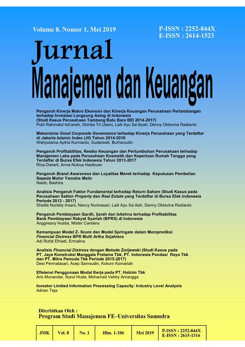 Vol 8 No 1 2019 Jurnal Manajemen Dan Keuangan Jurnal