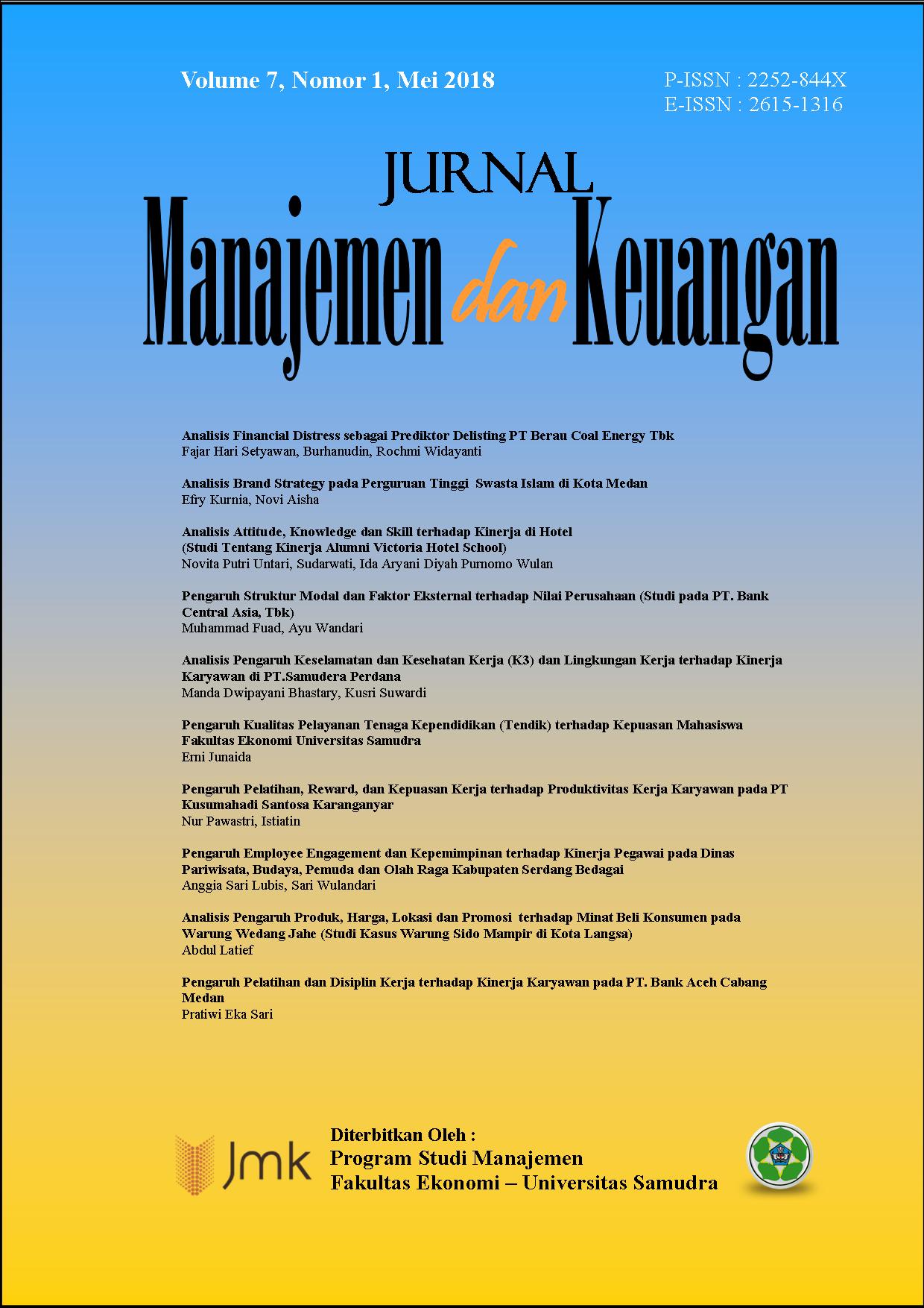 Jurnal Manajemen Dan Keuangan